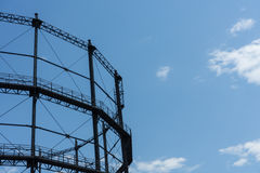 Gasometer old industry heritage with sky Stock Photo