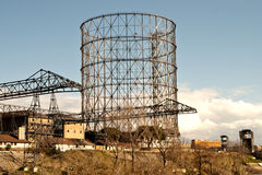 Gasometer in rome Stock Image