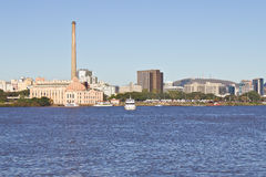 Gasometro - παλαιές εγκαταστάσεις αερίου - Πόρτο Αλέγκρε - Rio Grande κάνετε τη Sul - τη Βραζιλία Στοκ Εικόνες
