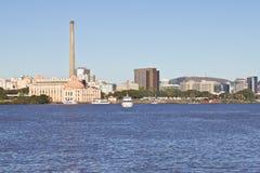 Gasometro - planta de gas vieja - Porto Alegre - Río Grande del Sur - el Brasil Foto de archivo