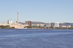 Gasometro - vecchio impianto di gas - Porto Alegre - Rio Grande do Sul - il Brasile Fotografia Stock Libera da Diritti
