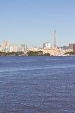 Gasometro - vecchio impianto di gas - Porto Alegre - Rio Grande do Sul - il Brasile Immagine Stock