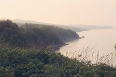 Gaspésie kust Royaltyfri Bild