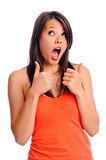 Gasp and approval isolated Royalty Free Stock Photos
