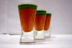 Gaspacho ed olio di basilico 4 Fotografie Stock Libere da Diritti