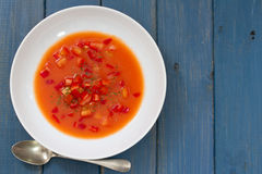 Gaspacho on plate Stock Image