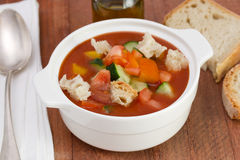 Gaspacho in the bowl Stock Images