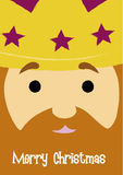 GASPAR. Christmas greeting with Gaspar King's face close-up Royalty Free Stock Photography