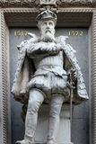 Gaspard de Coligny. Monument to Gaspard de Coligny, by Gustave Crauck 1827-1905, at the Protestant Church of the Oratory of the Louvre, Paris Stock Photos