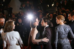 Gaspard Ulliel, Lea Seydoux, Xavier Dolan, Marion Cotillard, Nathalie Baye and Vincent Cassel Royalty Free Stock Photos