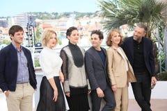 Gaspard Ulliel, Lea Seydoux, Xavier Dolan, Marion Cotillard, Nathalie Baye and Vincent Cassel Stock Images