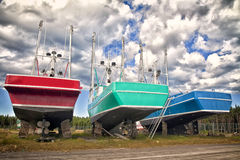 Gaspe Fishing Boats Royalty Free Stock Photography