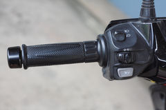 Gaspedal-Motorrad Stockfoto