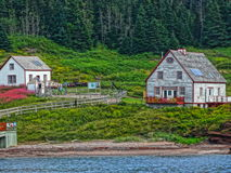 Gaspesie Ile Bonaventure vielle maison bord DE l ` eau ancestrale Royalty-vrije Stock Foto's