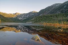 Gaspesie National Park. Mountain found at the Gaspesie National Park Stock Images