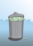 Gaspillage d'argent Photo stock