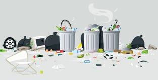 Gaspillage de déchets illustration de vecteur