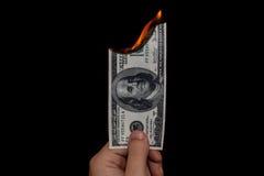 Gaspillage de l'argent Photos libres de droits