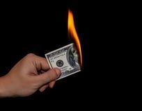 Gaspillage de l'argent Image stock