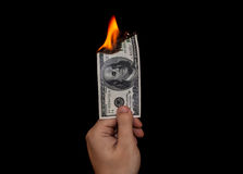 Gaspillage de l'argent Photo stock