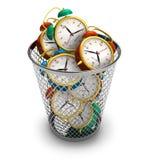 Gaspillage du concept de temps Photo stock