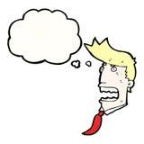 Gasping businessman cartoon Royalty Free Stock Photo