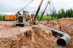 gaspipeline κατασκευής Στοκ εικόνα με δικαίωμα ελεύθερης χρήσης