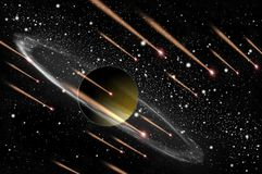 Gasplanet und -komet Lizenzfreies Stockfoto