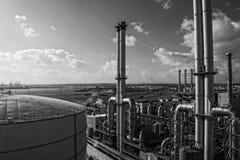 Gaspowerstationen royaltyfria foton