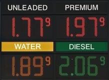 Gaspreis ist preiswerter als Wasser wieder lizenzfreie stockfotos