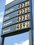 Gaspreiszeichen $4 Stockbild