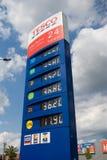 Gasprijslijst Stock Foto's