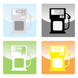 gaspump royaltyfri illustrationer