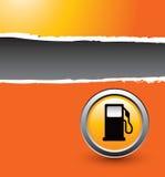 Gaspumpenreklameanzeige Stockbild