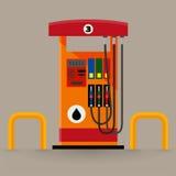 Gaspumpstation lizenzfreie stockbilder