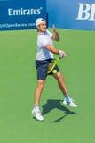 Ричард Gasquet играет в четвертьфинале на Уинстон-Сейлем Стоковая Фотография RF