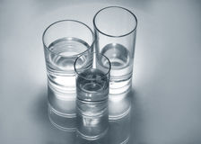 Gass glasses with water Stock Photos