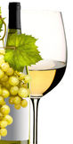 Gass of wine with grapes Royalty Free Stock Photo