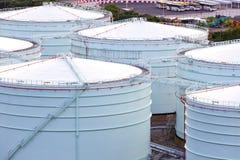 GasSammelbehälter in der Industrieanlage Stockbild