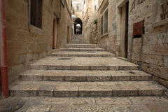 Gasse in altem Jerusalem Stockbild