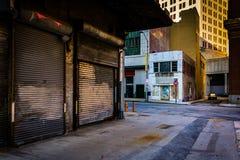 Gasse in Baltimore, Maryland Stockbild