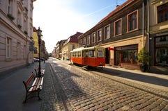 Gasse in Bydgoszcz Stockfotos