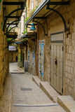 Gasse in der alten Stadt, in Nazaret Stockbild