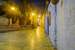 Gasse im jüdischen Viertel, in Safed Tzfat stockfoto