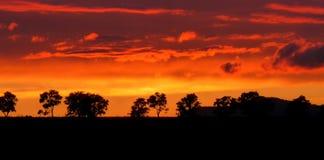 Gasse im Sonnenuntergang Stockfotos