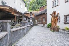 Gasse nahe bei dem Salzburg funikulär stockfoto