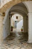 Gasse in Polignano eine Stute, Puglia, Italien Stockfotos