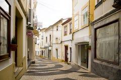 Gasse Portalegre Portugal lizenzfreie stockfotos