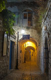 Gasse in Safed Stockfotos