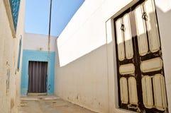 Gasse in Tunesien lizenzfreie stockbilder